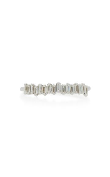Suzanne Kalan 18k White Gold And Diamond Ring