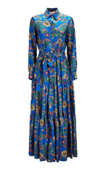 La Doublej Bellini Printed Maxi Dress