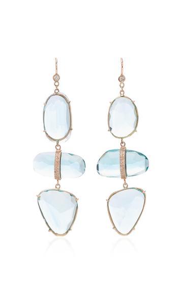 Jacquie Aiche Aquamarine 3 Step Earrings