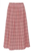 Marni Pleated Plaid Twill Skirt