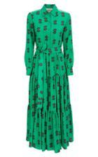 La Doublej Bellini Printed Crepe Maxi Dress