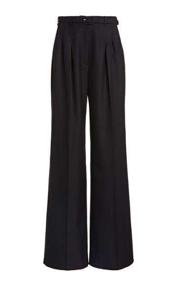 Moda Operandi Gabriela Hearst Vargas Belted Cashmere Pleated Wide-leg Trousers