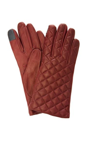 Maison Fabre Quilted Lambskin Gloves