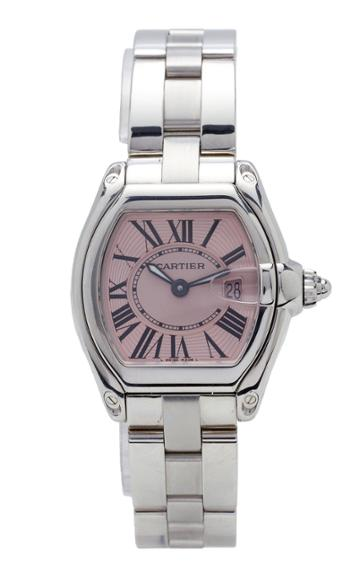 Vintage Watches Cartier Roadster With Pink Roman Dial