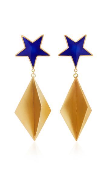 Silhouette M'o Exclusive Blue Star Enamel Earrings