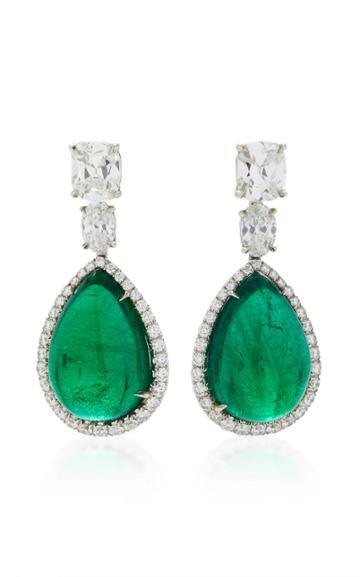 Bayco One-of-a-kind Emerald & Diamond Earrings