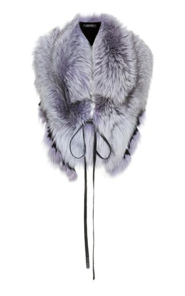 Lysa Lash Furs Fox Oversized Ruffled Collar