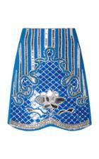 David Koma Embroidered Mini Skirt