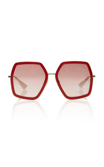Gucci Sunglasses Hexagon-frame Metal Sunglasses