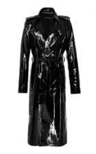 Zeynep Arcay Patent Leather Trench Coat