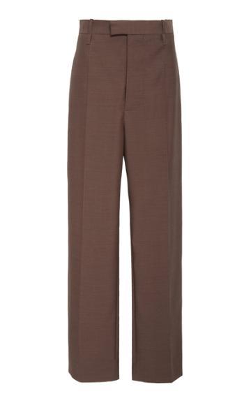 Bottega Veneta High-rise Straight-leg Wool Trouser