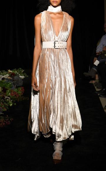 Moda Operandi Danielle Frankel Isla Pleated Velvet Gown