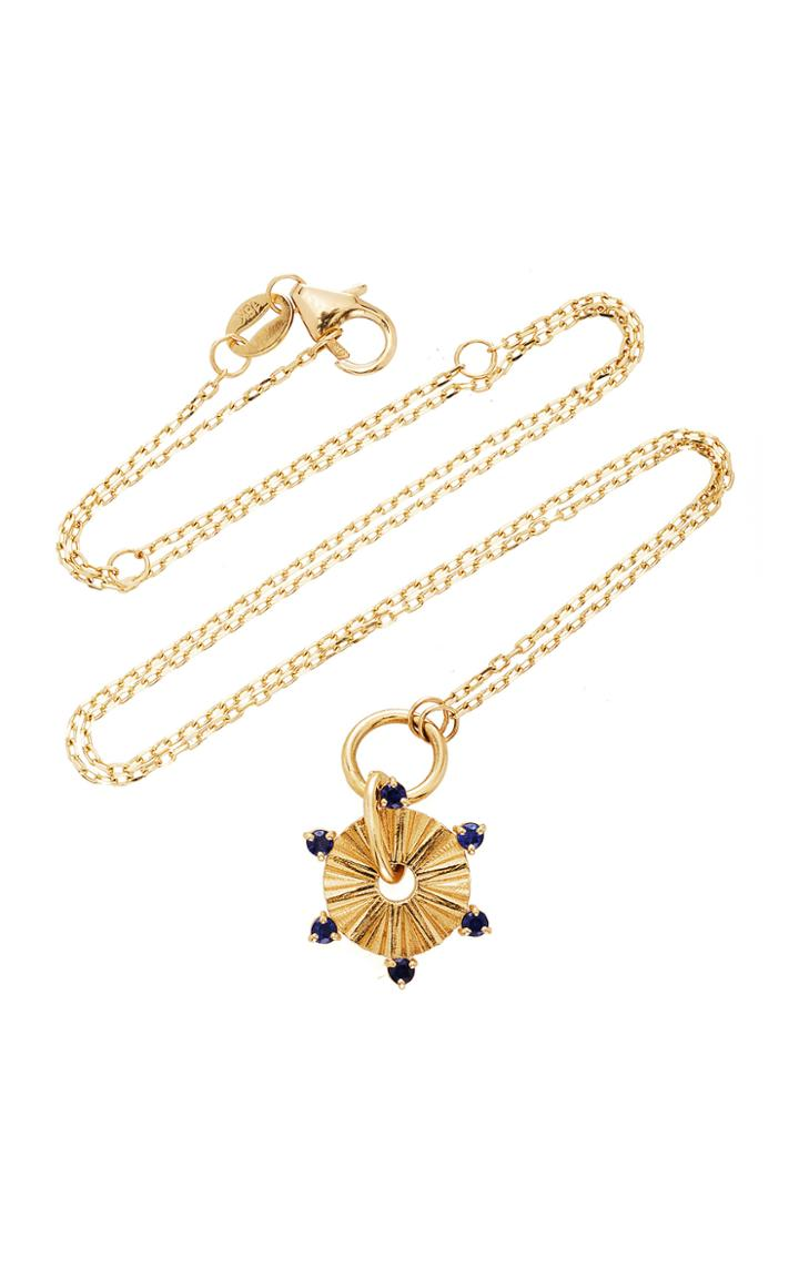 Foundrae 18k Gold And Sapphire Necklace