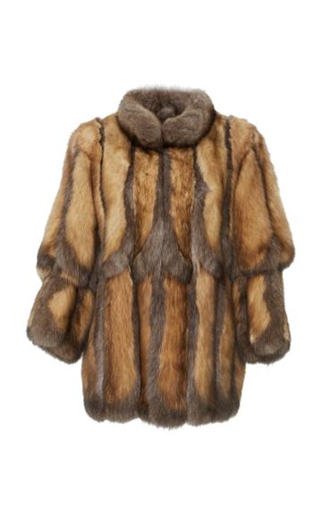 J. Mendel Scalloped Sable Coat