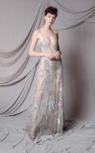 Moda Operandi Marco & Maria Slit Deep V Cut Dress