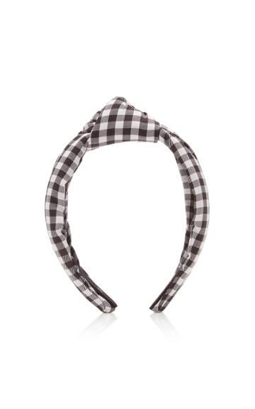 Lele Sadoughi Knotted Gingham Headband