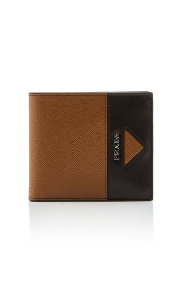 Prada Textured-leather Two-tone Wallet