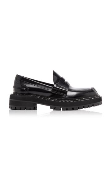Proenza Schouler Platform Leather Penny Loafers