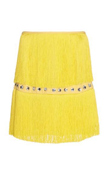 Sara Battaglia Fringe Mini Skirt
