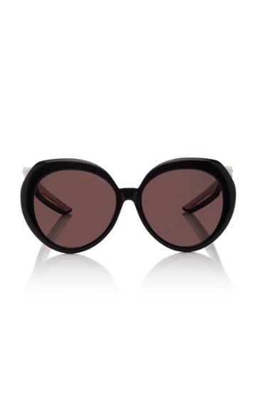Balenciaga Hybrid Round-frame Acetate Sunglasses