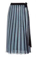 Tome Pleated Wrap Midi Skirt