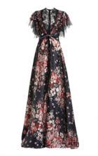 Moda Operandi Biyan Ikkara Floral Print Silk Dress
