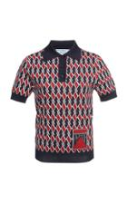 Prada Printed Polo Shirt