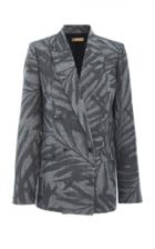 Michael Kors Collection Graphic Palm Linen Blazer