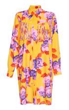 Msgm Fringe Floral Shirt