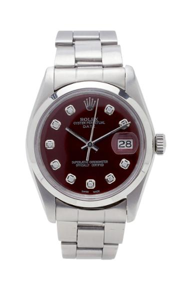 Vintage Watches Rolex Date Cherry Cola Pearlized Diamond Dial