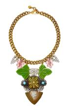 Lulu Frost One-of-a-kind Vintage 100 Year Leaves & Grape Necklace