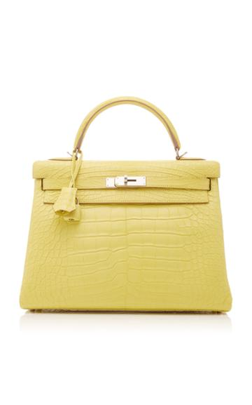 Heritage Auctions Special Collections Herms 32cm Lime Matte Alligator Kelly Bag