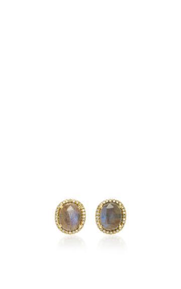 Nina Runsdorf Rose Cut Labradorite Earrings