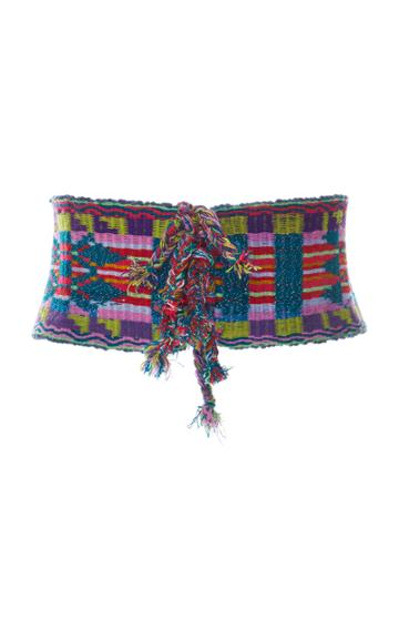 Anna Sui Gathering Of The Tribes Embroidered Belt