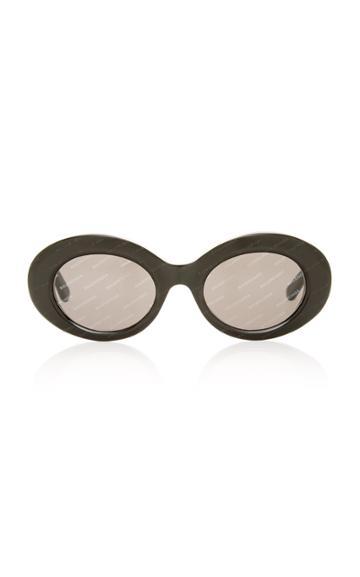 Balenciaga Sunglasses Oval Acetate Sunglasses