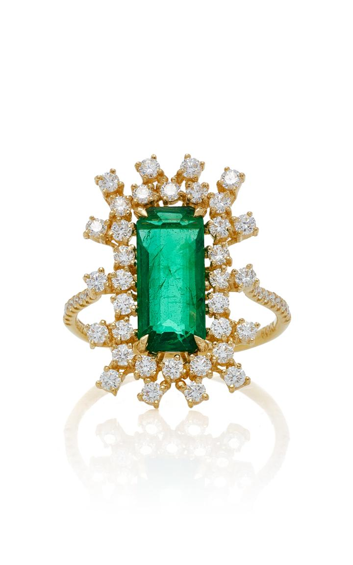 Suzanne Kalan One-of-a-kind Emerald And Diamond Ring