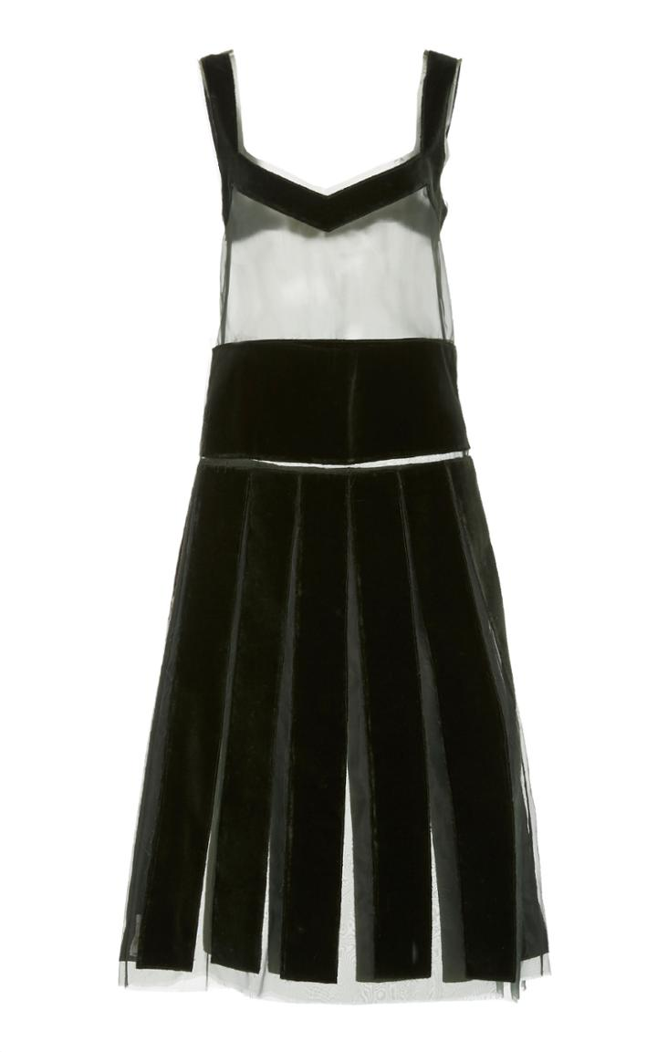 Moda Operandi Marina Moscone Semi-sheer Silk-blend Dress