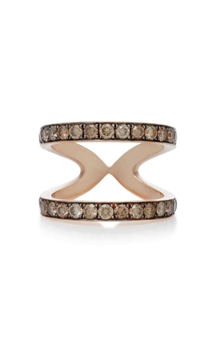 Sylva & Cie Champagne Diamond Wonder Woman Ring