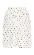 Cecilie Bahnsen Simone High-rise Printed Cotton Shorts