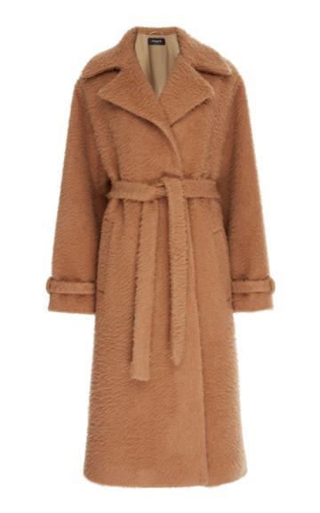 Rochas Oversized Belted Camel Coat