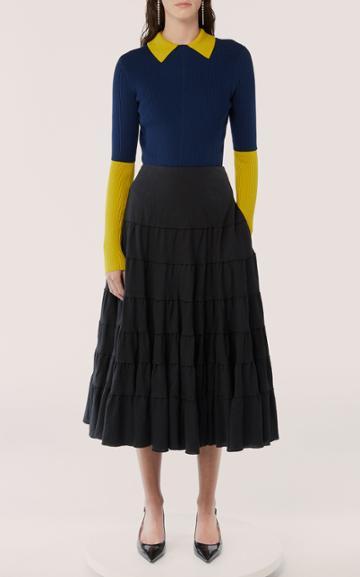 Moda Operandi Jason Wu Collection Tiered Cotton Midi Skirt