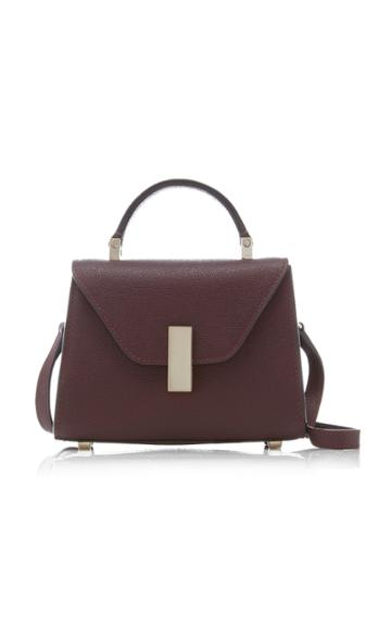 Valextra Iside Mini Grained Leather Top Handle Bag
