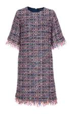 Oday Shakar Tweed Short Sleeve Dress