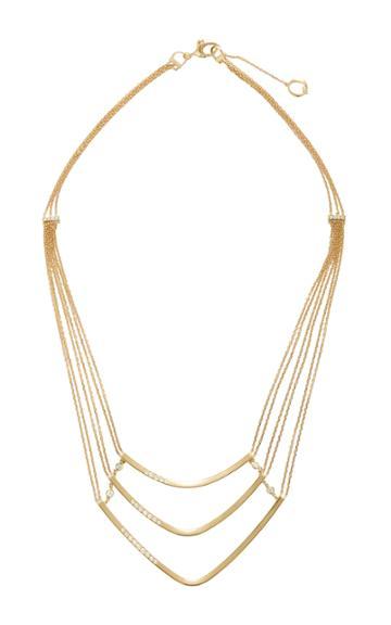 Qayten X.f. Triple Yellow Gold Necklace