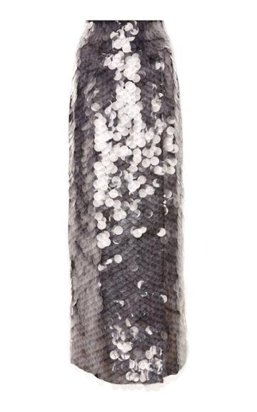 Sally Lapointe Circular Sequins Wrap Skirt