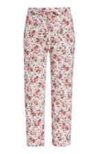 Moda Operandi Loveshackfancy Brentley Printed Pointelle-cotton Skinny Pants