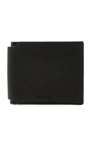 Lanvin Pebbled Leather Billfold Wallet