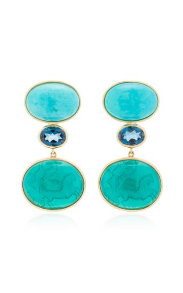 Bahina Green Venetian Multi-stone Earrings