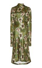 Etro Floral-print Satin Midi Dress