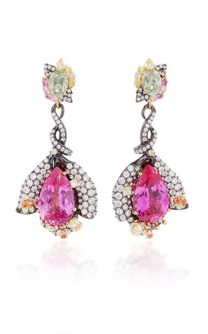 Anabela Chan Exclusive: Fuchsia Sapphire Earrings